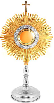 Monstrance: Superb Two Tone Gold plated Set